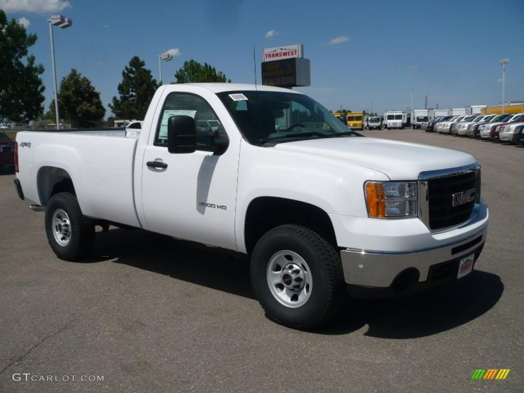 2010 GMC Sierra 3500HD Work Truck Regular Cab 4x4 - Summit White Color ...