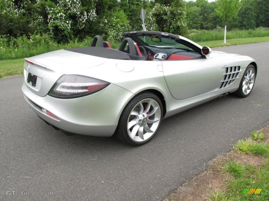 2009 crystal laurite silver metallic mercedes benz slr for 2009 mercedes benz roadster