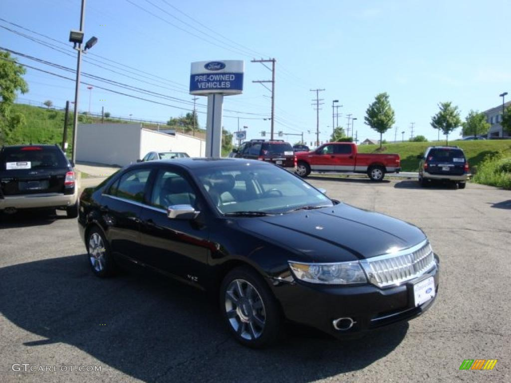 2008 MKZ Sedan - Black / Dark Charcoal photo #1