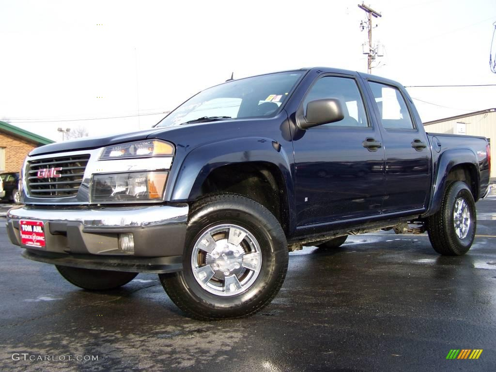 2008 midnight blue metallic gmc canyon sle crew cab 4x4 2974116 car color. Black Bedroom Furniture Sets. Home Design Ideas