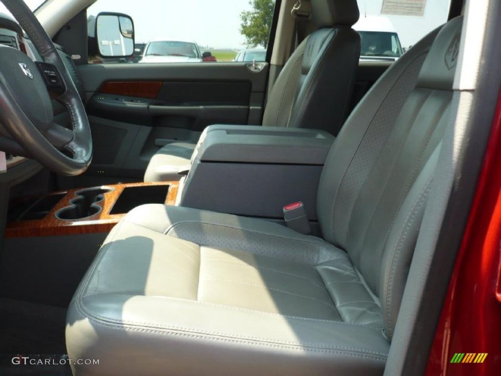 2007 Ram 3500 Laramie Quad Cab 4x4 - Inferno Red Crystal Pearl / Medium Slate Gray photo #6