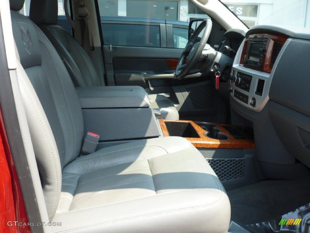 2007 Ram 3500 Laramie Quad Cab 4x4 - Inferno Red Crystal Pearl / Medium Slate Gray photo #8