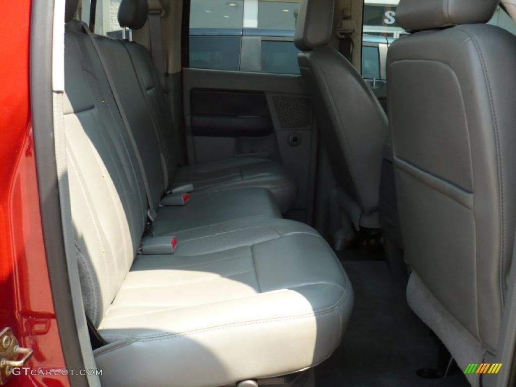 2007 Ram 3500 Laramie Quad Cab 4x4 - Inferno Red Crystal Pearl / Medium Slate Gray photo #9