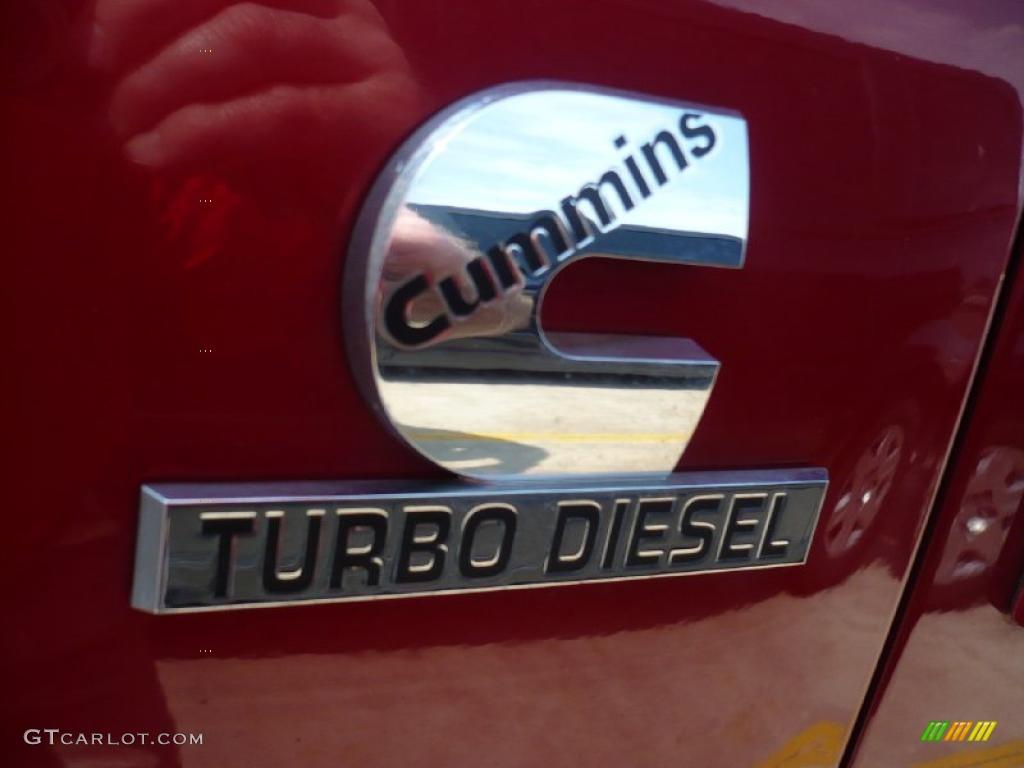 2007 Ram 3500 Laramie Quad Cab 4x4 - Inferno Red Crystal Pearl / Medium Slate Gray photo #19