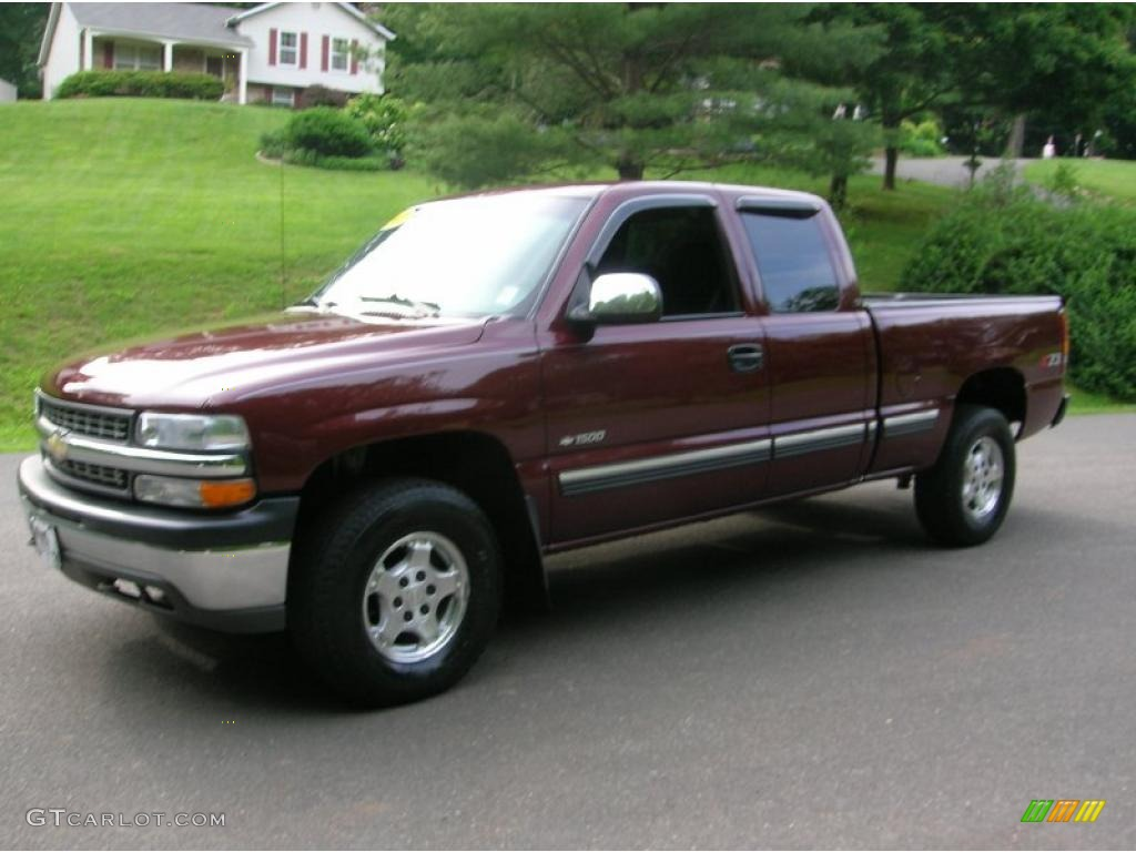2000 dark carmine red metallic chevrolet silverado 1500 z71