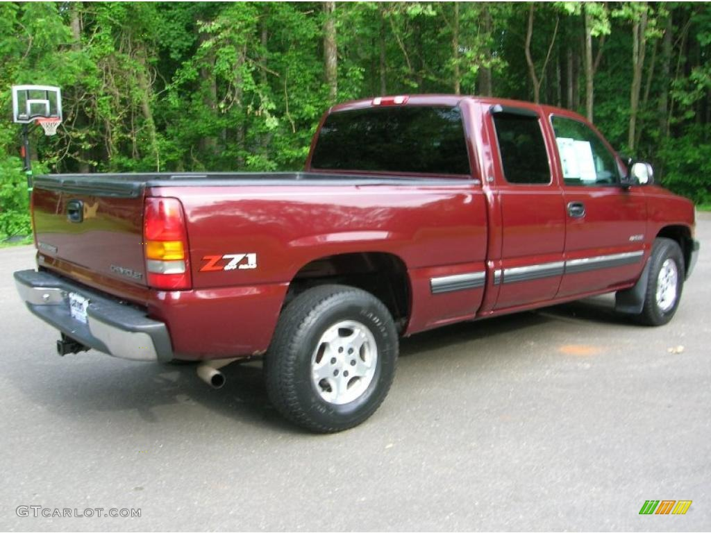 2000 Silverado 1500 Z71 Extended Cab 4x4 - Dark Carmine Red Metallic / Graphite photo #2