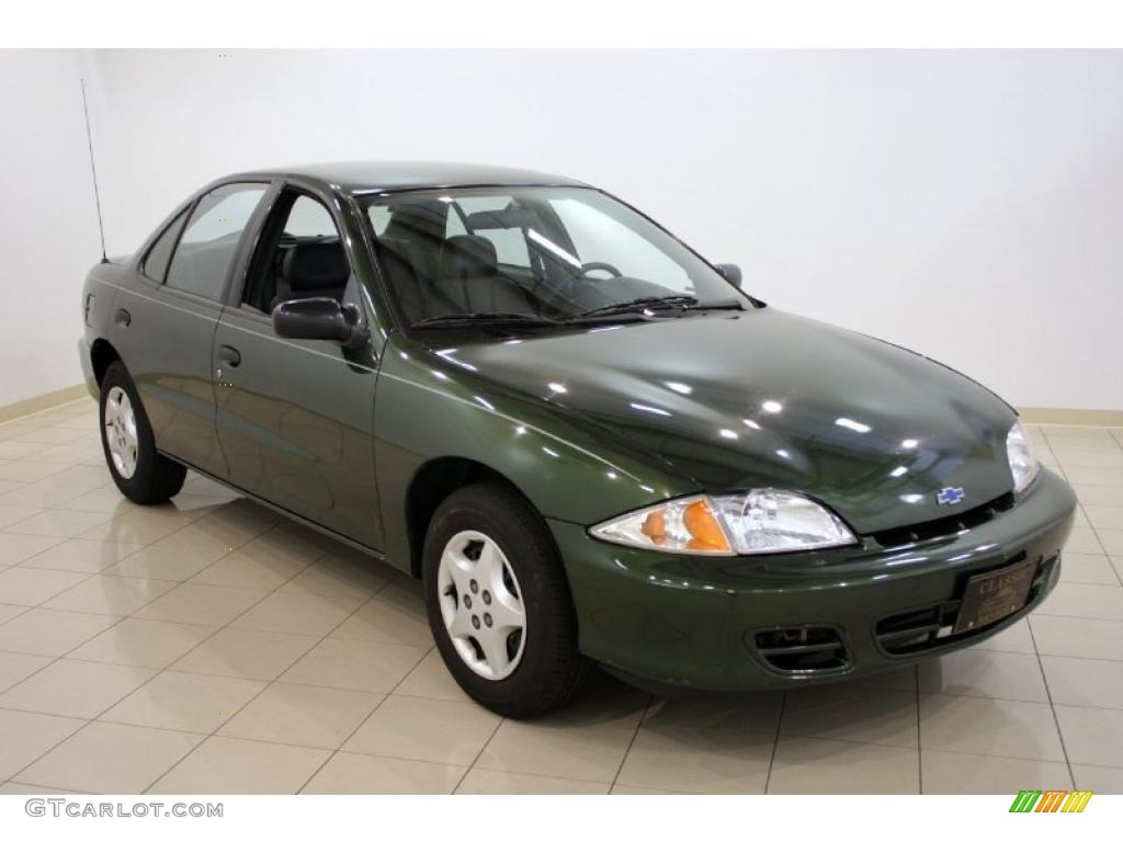 2000 Dark Colorado Green Metallic Chevrolet Cavalier Sedan #30544294