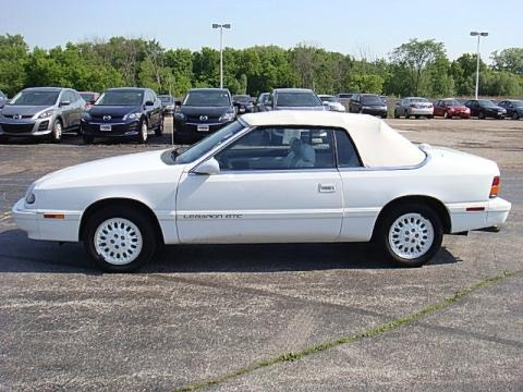 1995 chrysler lebaron gtc convertible data info and specs. Black Bedroom Furniture Sets. Home Design Ideas