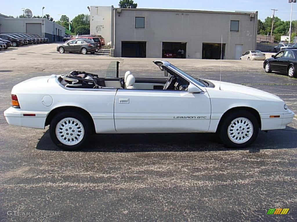 1995 Lebaron Gtc Convertible White Photo 4
