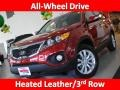2011 Spicy Red Kia Sorento EX AWD  photo #1
