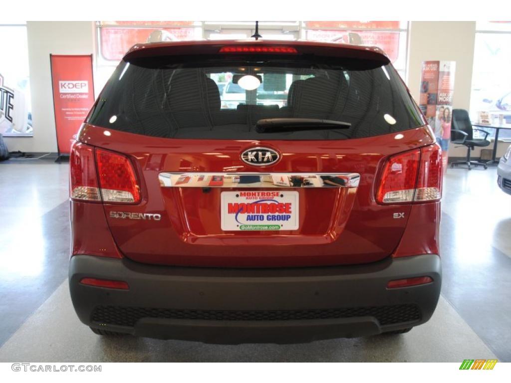 2011 Sorento EX AWD - Spicy Red / Beige photo #6
