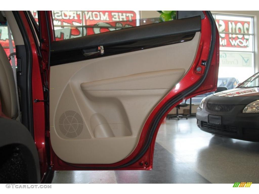 2011 Sorento EX AWD - Spicy Red / Beige photo #49