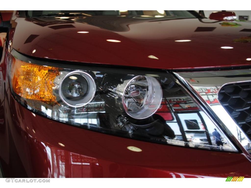 2011 Sorento EX AWD - Spicy Red / Beige photo #51
