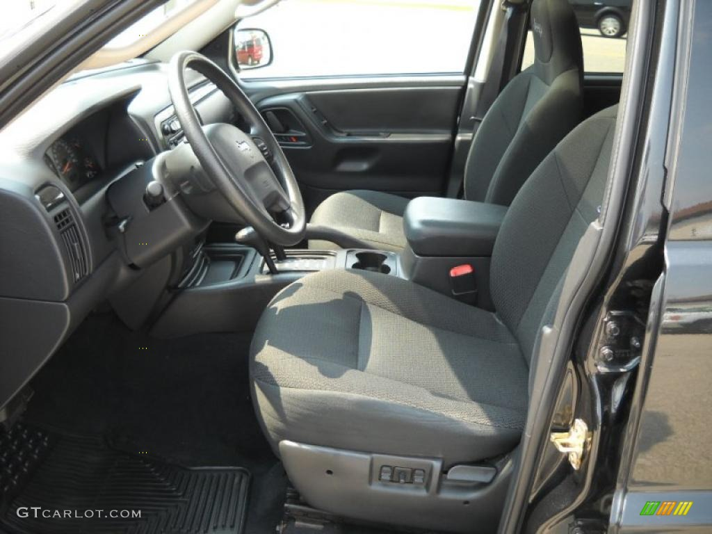 dark slate gray interior 2004 jeep grand cherokee freedom edition 4x4 photo 30591523. Black Bedroom Furniture Sets. Home Design Ideas