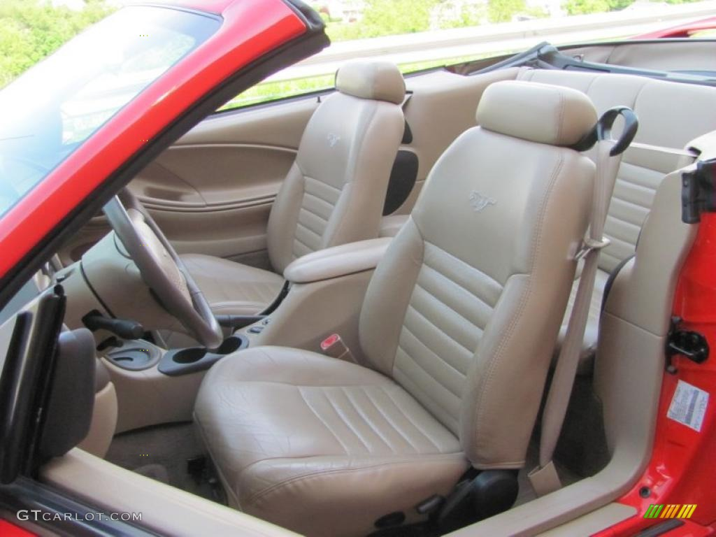 2000 Mustang GT Convertible - Performance Red / Medium Parchment photo #8
