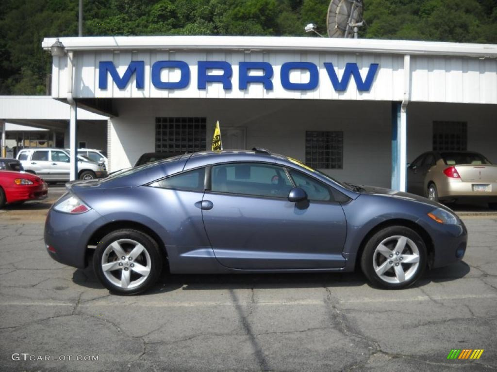 2007 eclipse gs coupe still blue pearl dark charcoal photo 1