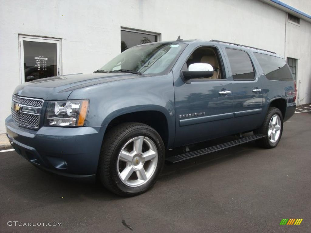 2008 blue granite metallic chevrolet suburban 1500 ltz 4x4 30616109 car color. Black Bedroom Furniture Sets. Home Design Ideas