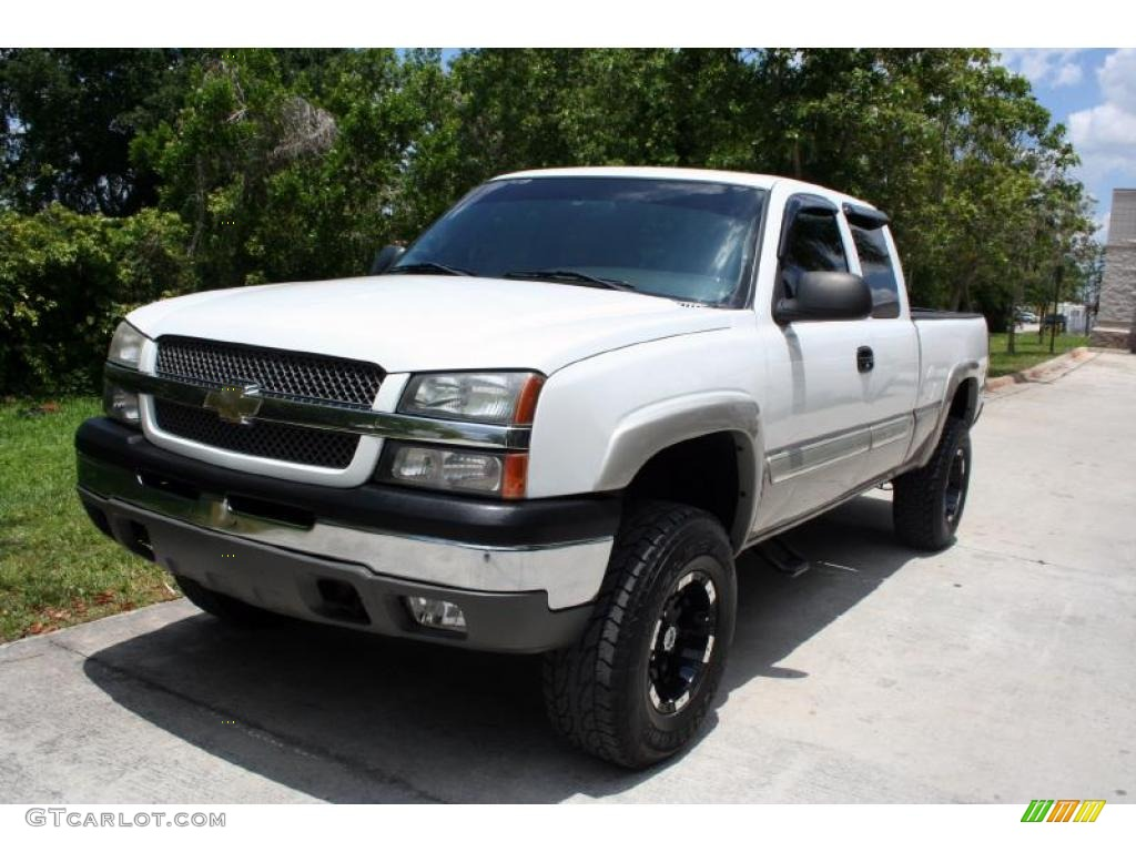 2004 summit white chevrolet silverado 1500 z71 extended cab 4x4 30616472 car. Black Bedroom Furniture Sets. Home Design Ideas