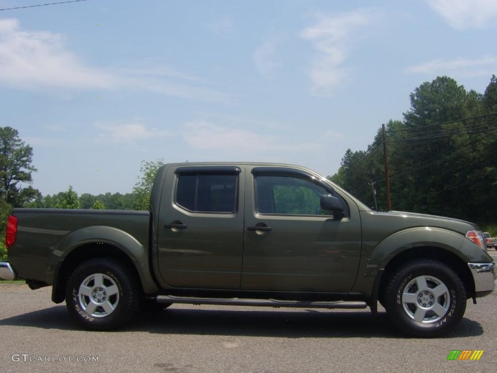 2005 canteen metallic green nissan frontier se crew cab 4x4 30616157 car color. Black Bedroom Furniture Sets. Home Design Ideas