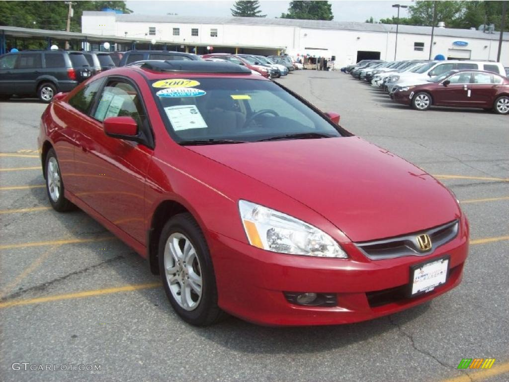 2007 San Marino Red Honda Accord Ex L Coupe 30722867