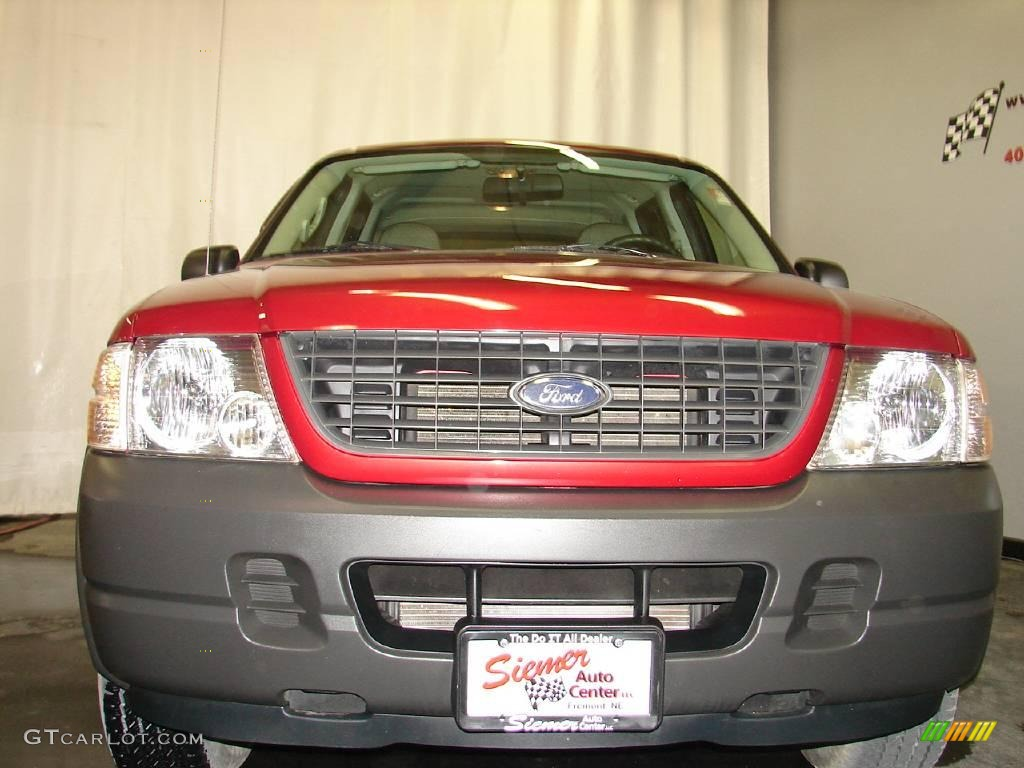 2003 Explorer XLS 4x4 - Redfire Metallic / Medium Parchment Beige photo #5