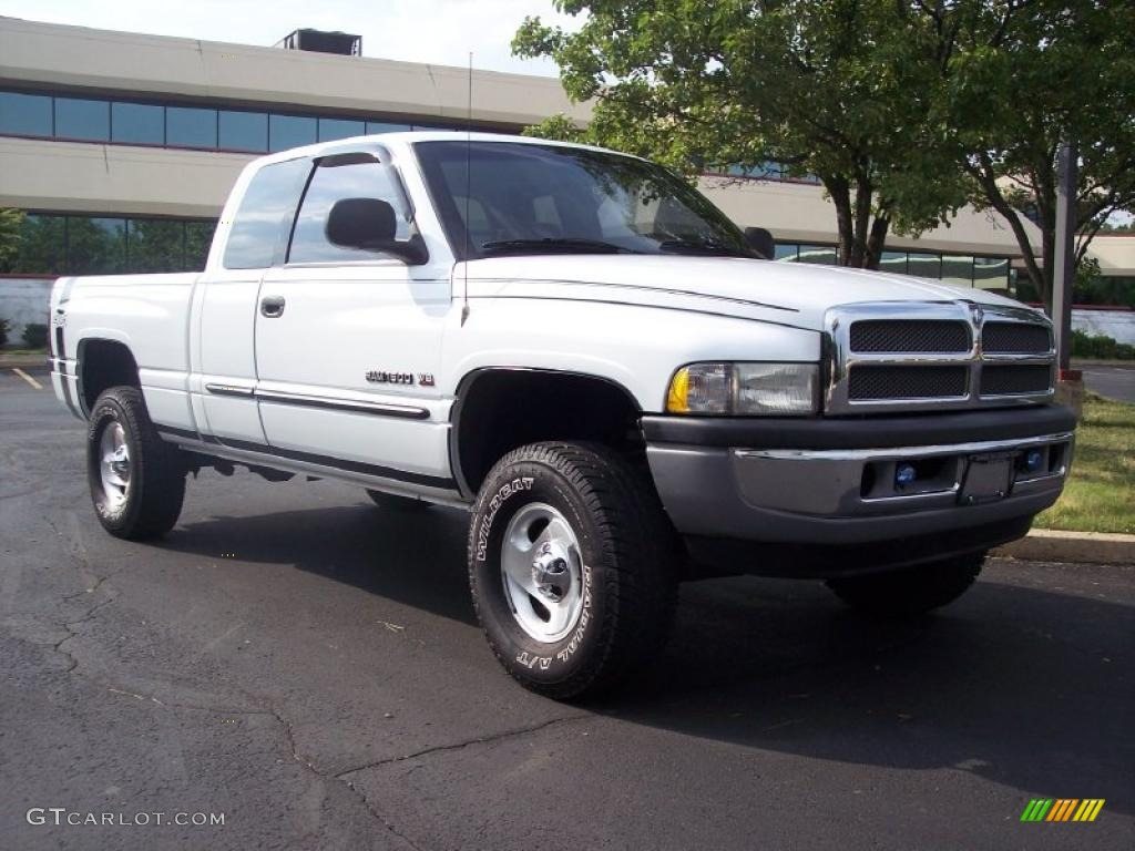 2001 bright white dodge ram 1500 slt club cab 4x4 30770056 car color galleries. Black Bedroom Furniture Sets. Home Design Ideas