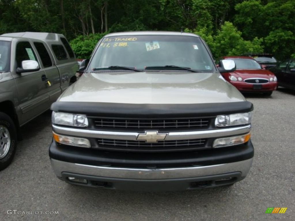 2002 Silverado 1500 LS Extended Cab 4x4 - Light Pewter Metallic / Graphite Gray photo #6