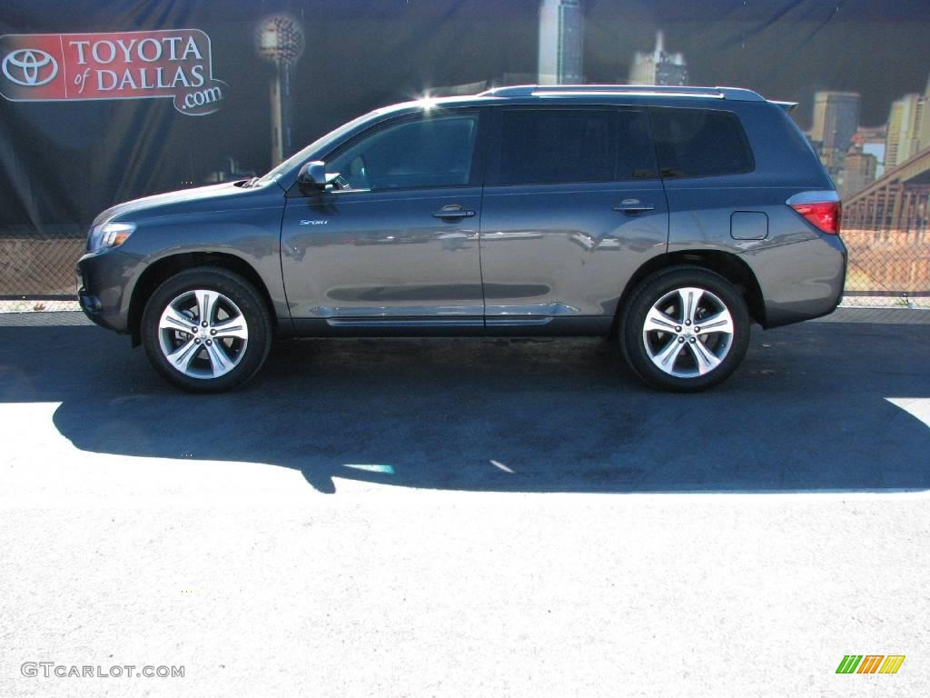 2008 Magnetic Gray Metallic Toyota Highlander Sport
