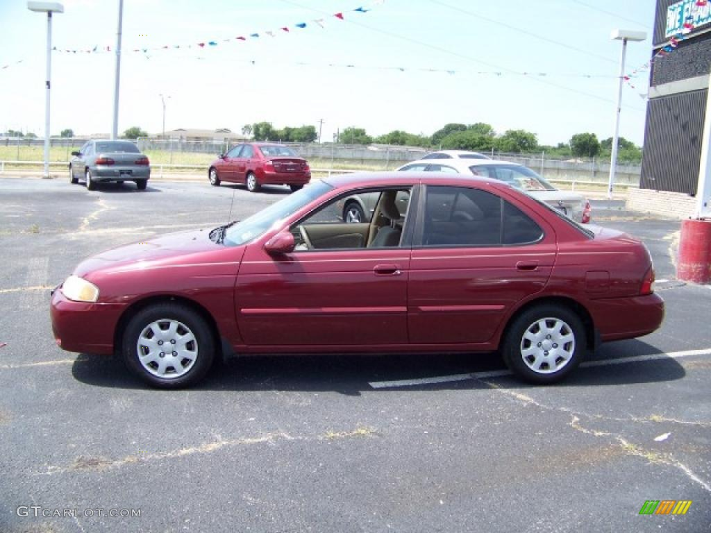 Awesome Inferno Red Nissan Sentra. Nissan Sentra GXE