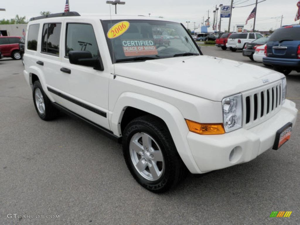 2006 Stone White Jeep Commander 4x4 30817074 Car Color Galleries