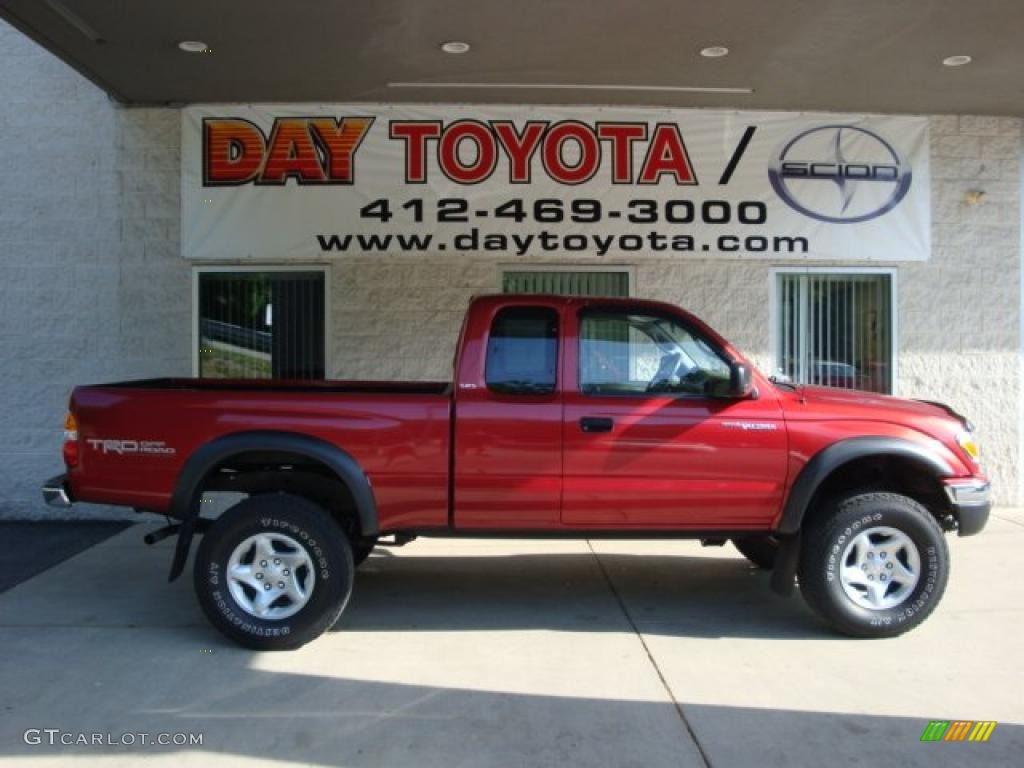 2003 Radiant Red Toyota Tacoma V6 TRD Xtracab 4x4 ...