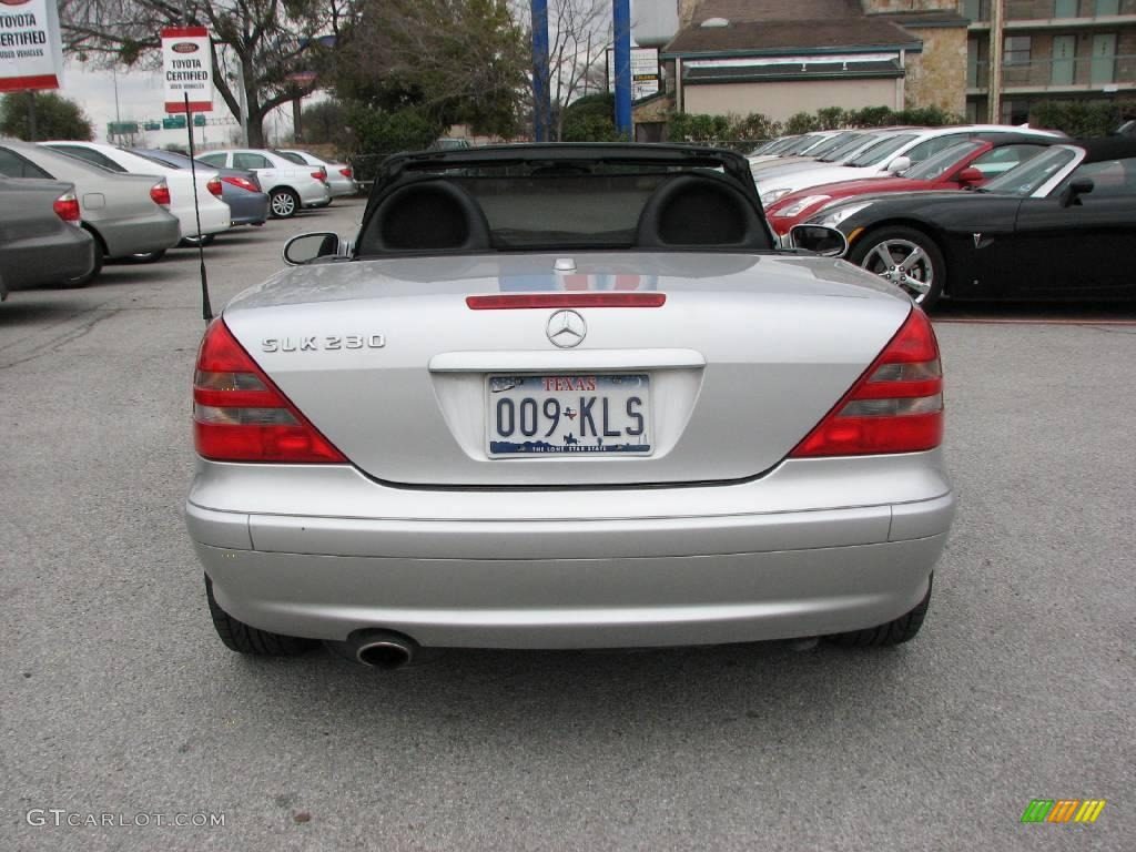 2001 SLK 230 Kompressor Roadster - Brilliant Silver Metallic / Charcoal Black photo #7