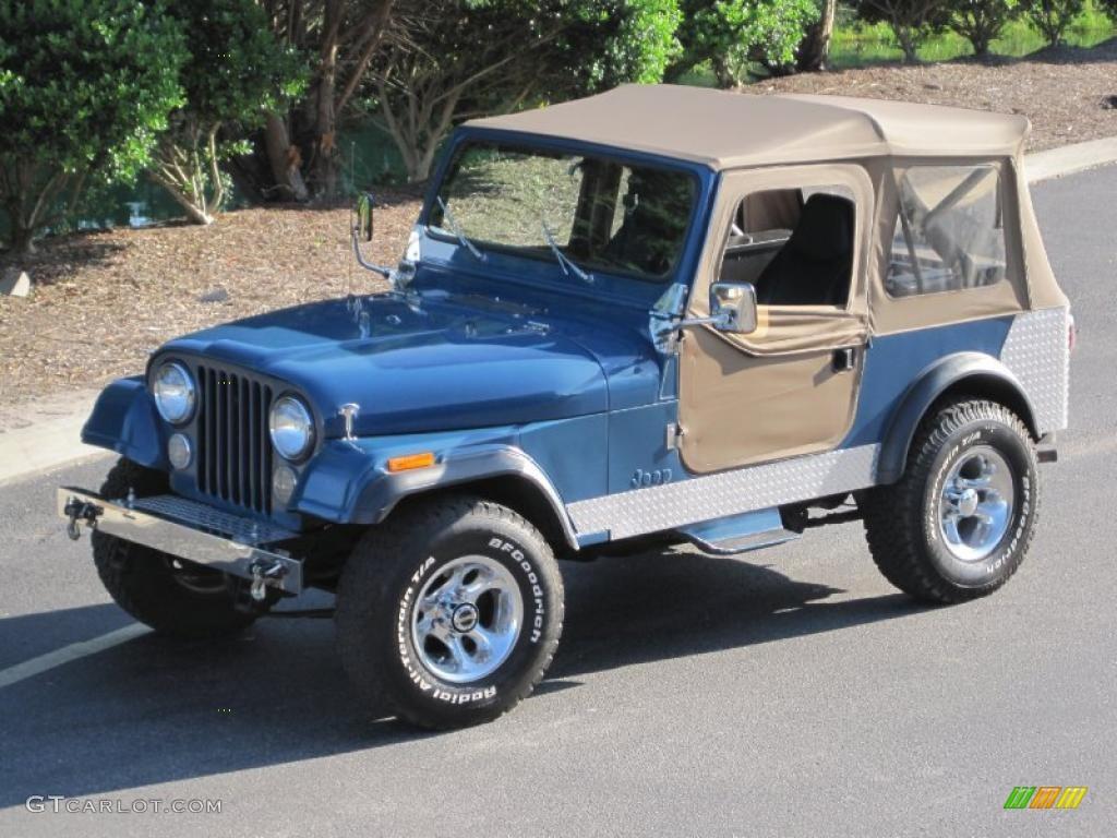 Jeep Wrangler V8 2017 >> 1986 Medium Blue Metallic Jeep CJ7 4x4 #30816245 Photo #9 ...