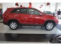2011 Spicy Red Kia Sorento LX AWD  photo #8