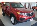 2011 Spicy Red Kia Sorento LX AWD  photo #9
