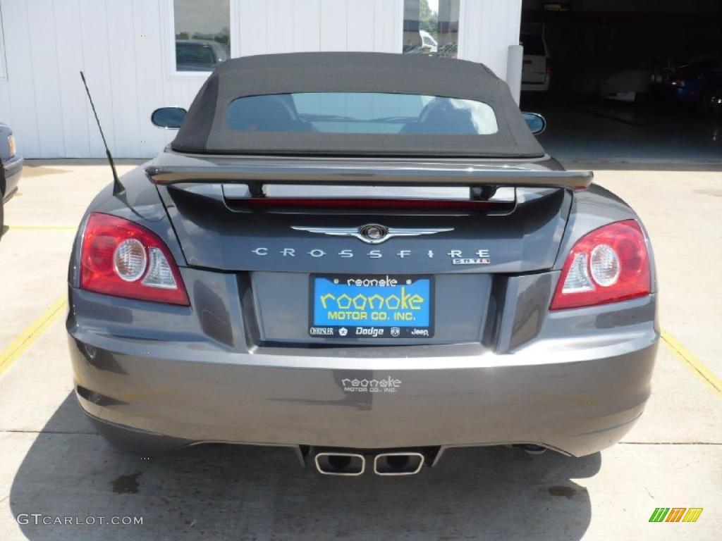 ... Graphite Metallic Chrysler Crossfire SRT-6 Roadster #30816316 Photo #4