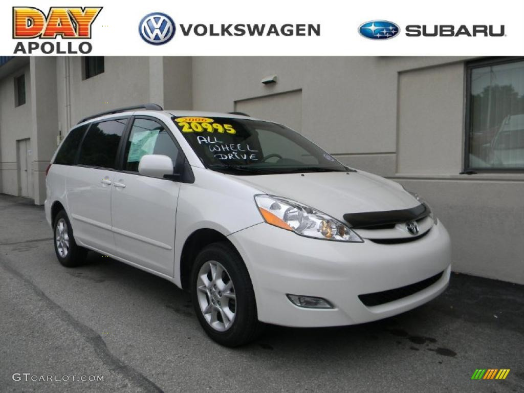 2006 sienna xle awd arctic frost pearl stone gray photo 1