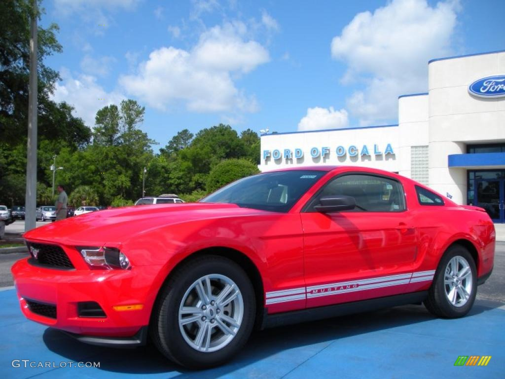 2011 Mustang V6 Coupe - Race Red / Charcoal Black photo #1