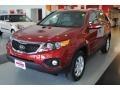 2011 Spicy Red Kia Sorento LX  photo #3