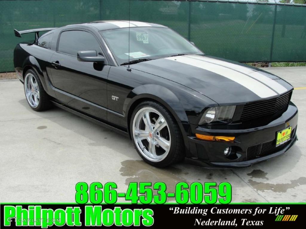 2007 Mustang GT Premium Coupe - Black / Medium Parchment photo #1
