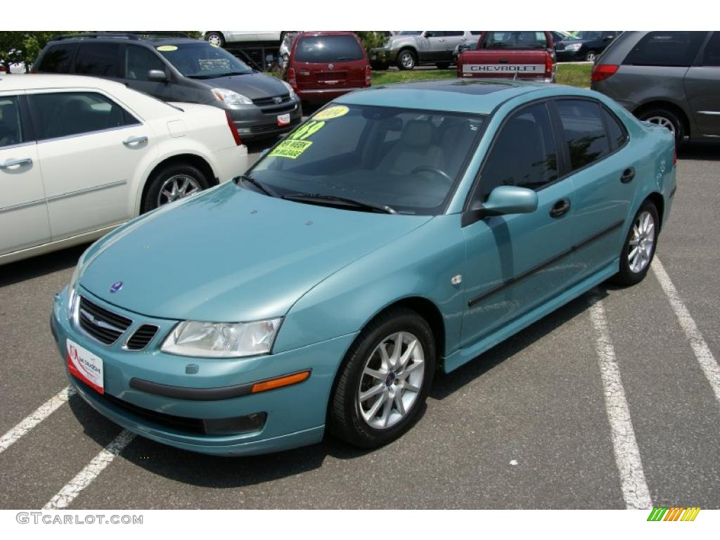 2004 9 3 Arc Sedan Glacier Blue Metallic Parchment Photo 1