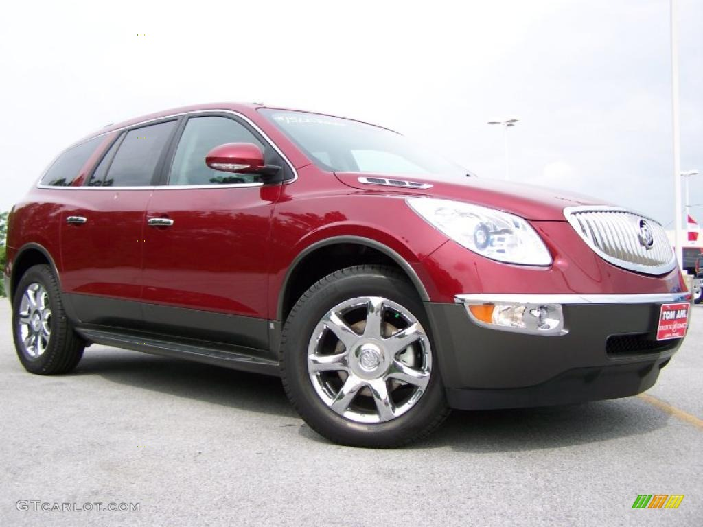 2010 Enclave CXL AWD - Red Jewel Tintcoat / Titanium/Dark Titanium photo #1