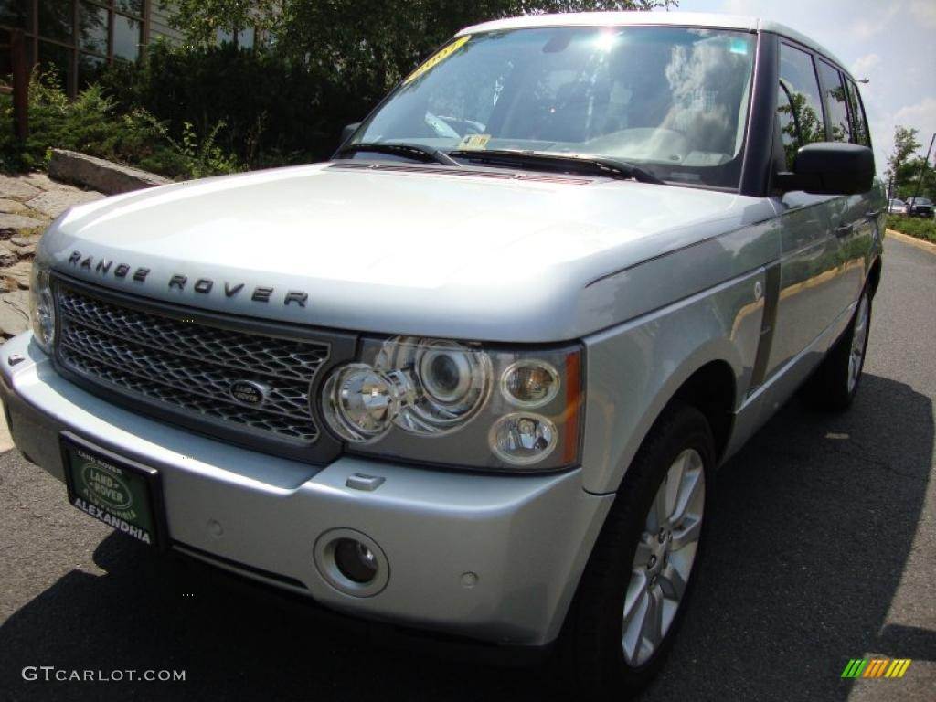 2007 Range Rover Supercharged - Zermatt Silver Metallic / Charcoal photo #1
