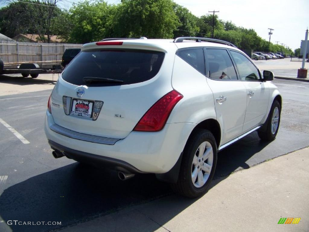 2007 Murano SL - Glacier Pearl White / Cafe Latte photo #4