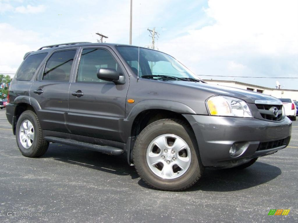 2003 dark titanium gray metallic mazda tribute lx v6 4wd. Black Bedroom Furniture Sets. Home Design Ideas