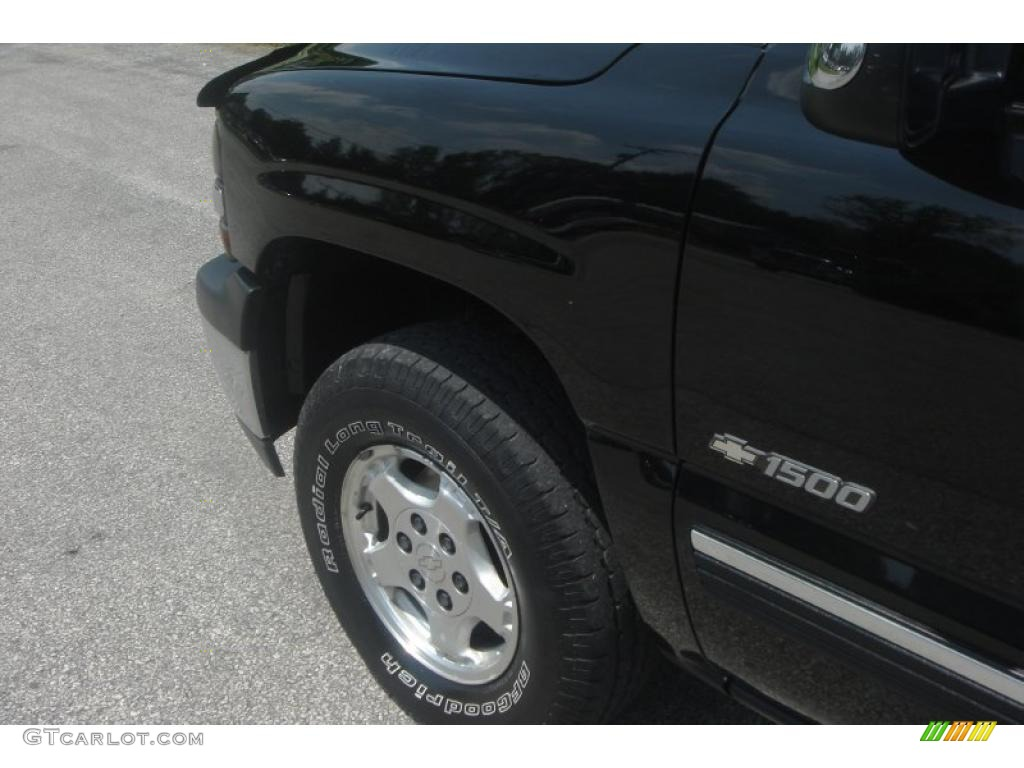 2002 Silverado 1500 LS Extended Cab 4x4 - Onyx Black / Graphite Gray photo #16