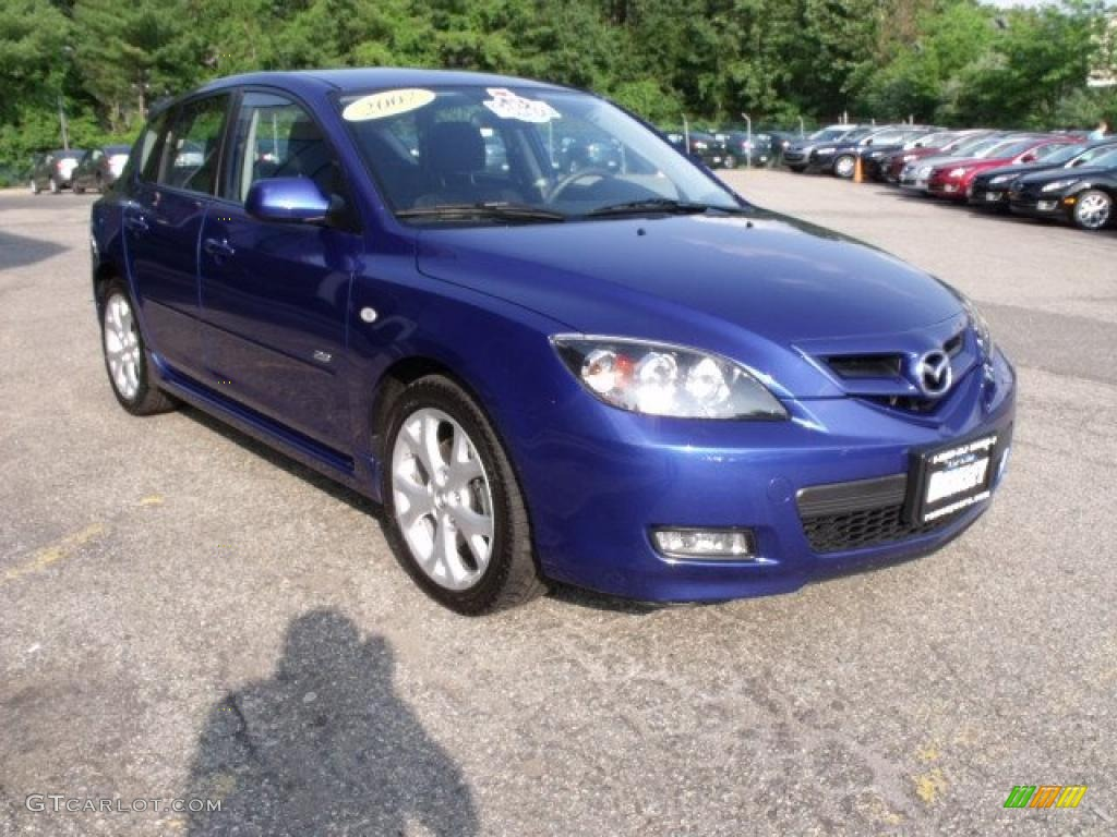 2007 aurora blue mica mazda mazda3 s touring hatchback. Black Bedroom Furniture Sets. Home Design Ideas