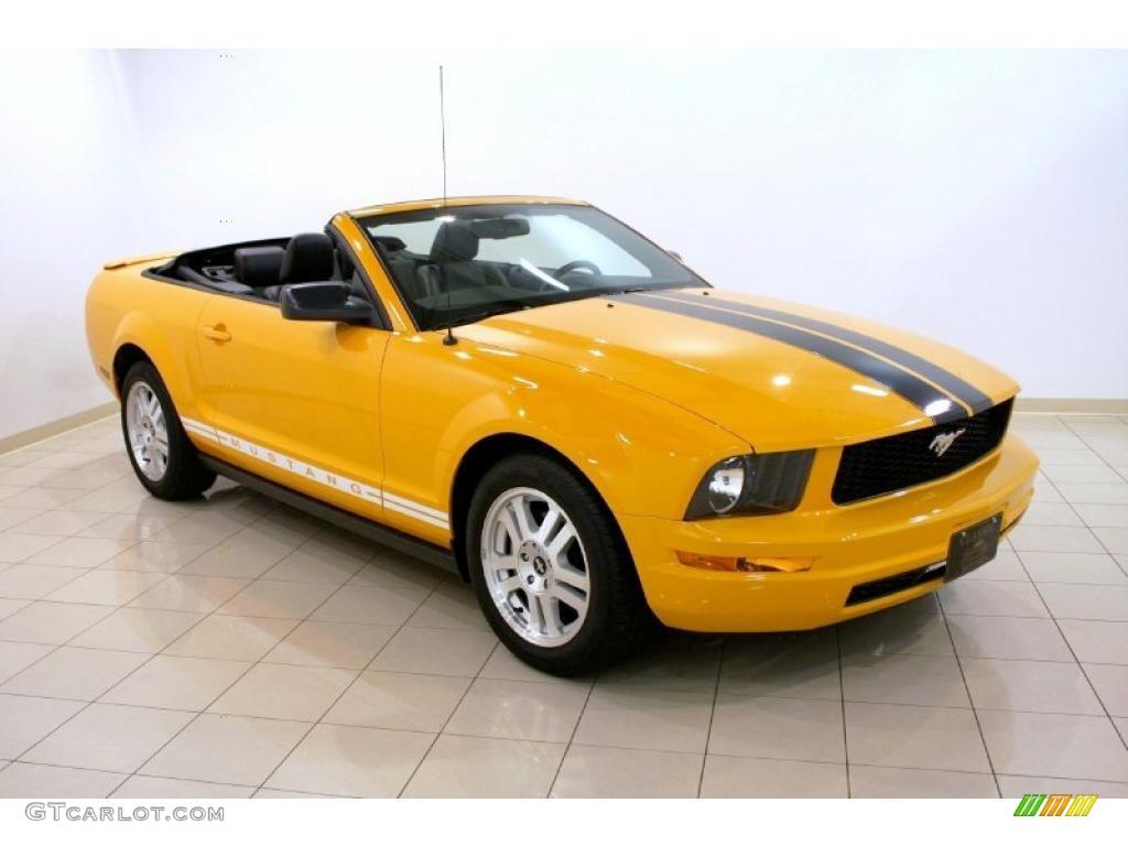 Grabber Orange Ford Mustang
