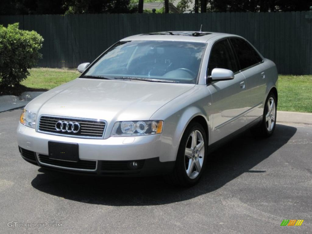 2003 light silver metallic audi a4 3 0 quattro sedan. Black Bedroom Furniture Sets. Home Design Ideas