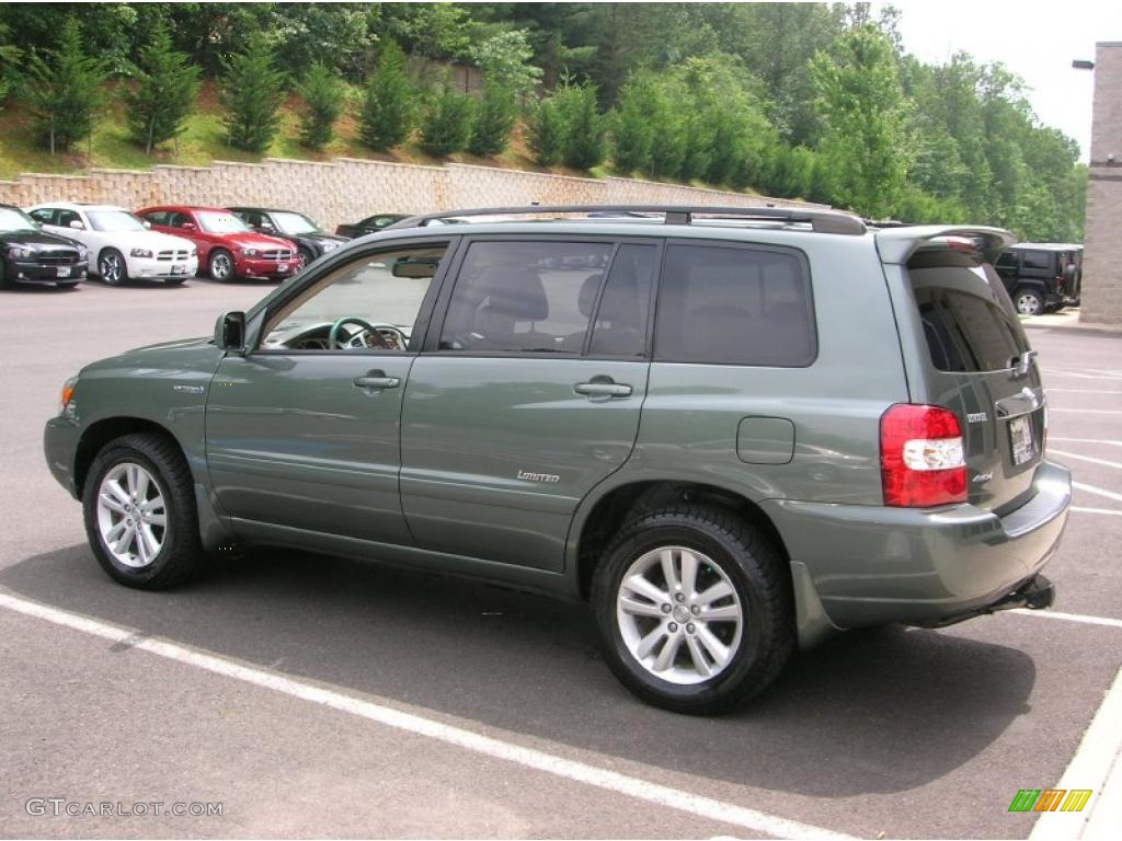 2007 Oasis Green Pearl Toyota Highlander Hybrid Limited
